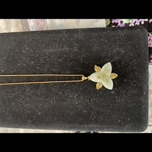 """Jewelry - 14k yellow gold 18"""" inch chain with a jade pendant"""